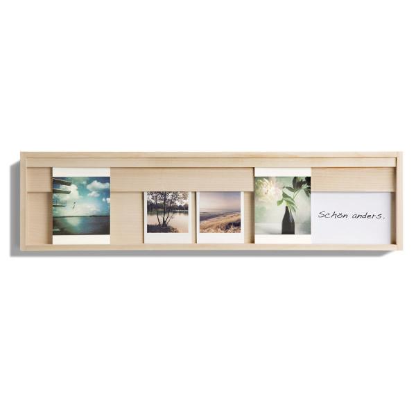 Karten- und Bilderrahmen Halter aus Ahornholz vom Designlabel side by side.