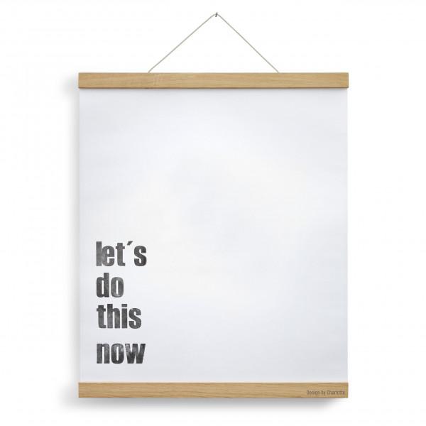 Posterleiste A2 Eichenholz 42 cm, personalisiert