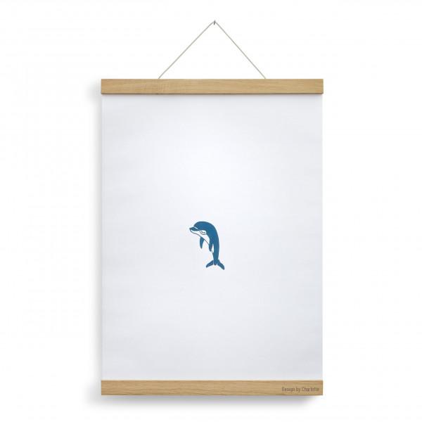 Posterleiste A3 Eichenholz 30 cm, personalisiert