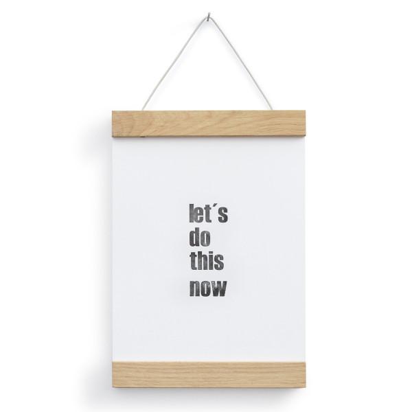 Posterleiste A5 Eichenholz - 15 cm -  side by side Design - Holzleisten magnetisch