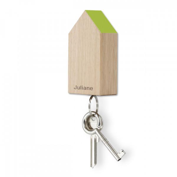 Schlüsselhaus magnetic, Eiche hellgrün, personalisiert