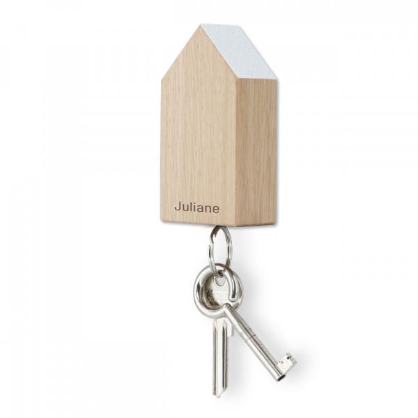 Schlüsselhaus magnetic, Eiche weiß, personalisiert