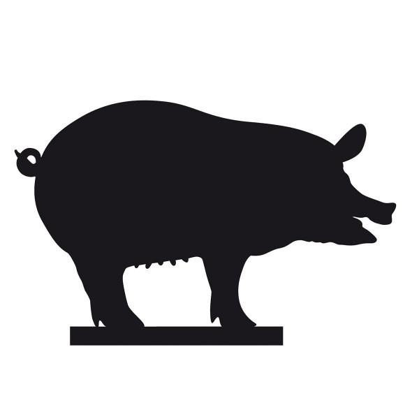 Silhouette Schwein von side by side Design - für Kresseschale, Käseschale oder Keksschale