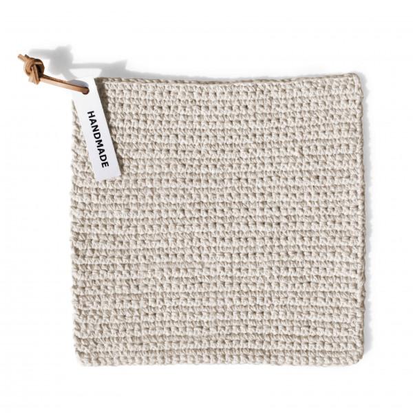 Topflappen HANDMADE aus 100% Baumwolle von side by side Design - Handarbeit aus Nepal -  fair und sozial produziert.