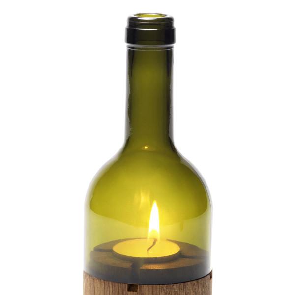 Ersatzglas für das side by side Weinlicht in grünem Glas.