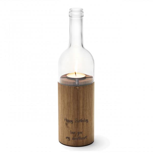 WeinLicht mit Wunschgravur, klarglas