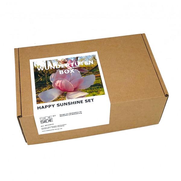 Wundertüten Box HAPPY SUNSHINE SET von side by side Design. Geschenkbox, produziert in den Caritas Wendelstein Werkstätten.
