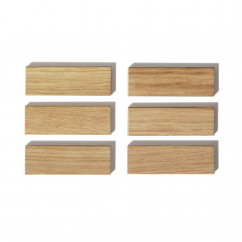 Holzmagnete aus Eiche - Modell: PUR - side by side Design - 6er Set