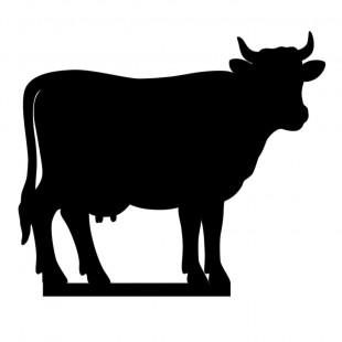 Silhouette Kuh von side by side Design - für Kresseschale, Käseschale oder Keksschale
